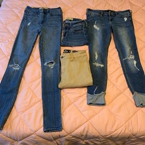 Hollister jeans size 1 super skinny